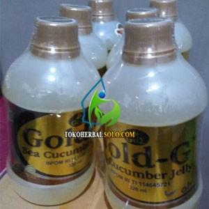 Jelly Gamat Cair Gold G Sea Cucumber ukuran 320 mL Asli GNE