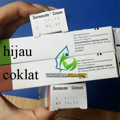 Dermovate Coklat Obat Bekas Luka 10 gram .